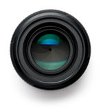 Camera Lens on White Stock Photography