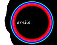 Camera lens with the word SMILE - an abstract Stock Photo