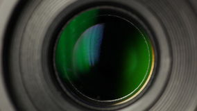 Camera lens zoom stock footage