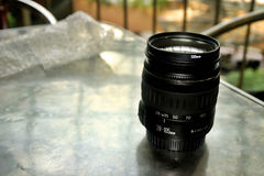 Camera Lense. Photography session outdoor. Difference lenses for different types of shots Royalty Free Stock Photography