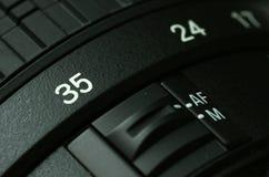 Camera lense. Close up of a camera lense Stock Photography