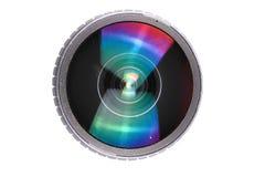 Camera lense. Isolated on the white  background Royalty Free Stock Photos