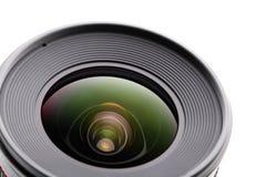 Camera lense. Over white background Stock Photo