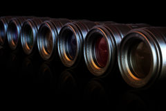 Camera Lenses. Photography theme background of Camera Lenses Stock Images