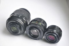Camera lenses   on white background Stock Image