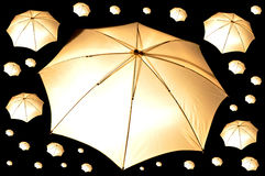 Camera light umbrella Royalty Free Stock Photography