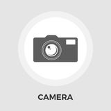 Camera Line Icon. Camera Icon Vector. Flat icon on the white background. Editable EPS file. Vector illustration royalty free illustration
