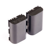 Camera lithium batteries Stock Photography