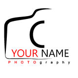 Camera Logo. Photography Logo on white background camera logo with isolated background. Can be used by photographers, easy to edit stock illustration