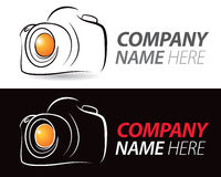 Camera Logo. A photography logo of a camera on an background royalty free illustration