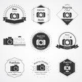 Camera logo badge Stock Photo