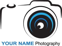 Camera logo - colorful illustration royalty free illustration