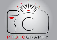 Camera Logo. Crown Photography. AI Illustrator Vector Graphic attached royalty free illustration