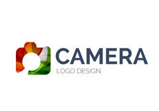 Camera logo design made of color pieces Stock Image