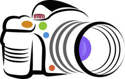 Camera logo. Illustration art of a camera logo with isolated background vector illustration