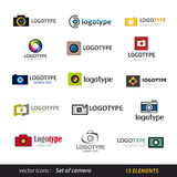 Camera logo set Royalty Free Stock Image