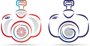 Camera logo. A vector drawing represents camera logo design vector illustration