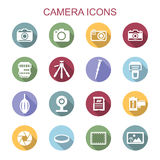 Camera long shadow icons Royalty Free Stock Image