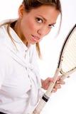 camera looking player portrait tennis Στοκ Φωτογραφίες