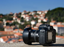 Camera with low depth of field Royalty Free Stock Photography
