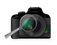 Camera magnify illustration design Royalty Free Stock Photos