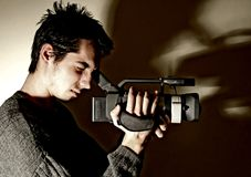 camera man στοκ φωτογραφίες