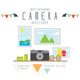Camera memories of the holidays. Vector Illustration of camera memories of the holidays Royalty Free Stock Images