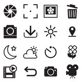 Camera and menu Icons. With Vector illustration graphic design stock illustration