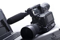 Camera met Microfoon royalty-vrije stock foto's
