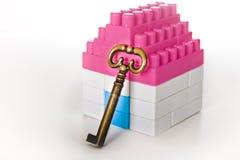 Camera miniatura con la chiave Immagine Stock