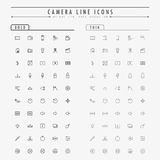 Camera minimal line icons on bold and thin line concept Stock Photography