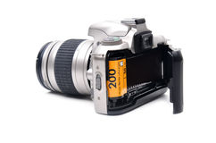 Camera with 35 mm film Royalty Free Stock Images