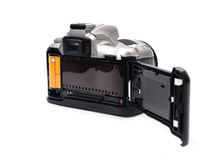 Camera with 35 mm film Stock Photo