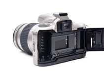 Camera with 35 mm film Stock Image