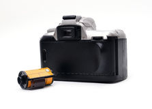Camera with 35 mm film Stock Photography