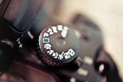 Camera mode dial Royalty Free Stock Images