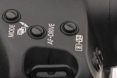Camera mode selector buttons. Buttons used to select between automatic and semi automatic modes of modern photo cameras and some stock image