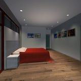 Camera moderna - camera da letto matrice Fotografia Stock Libera da Diritti