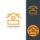 Camera moderna Logo Design Template Flat Simple Fotografia Stock
