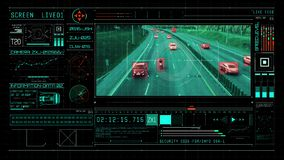 Camera monitors cars on the highway and identifies tracking data