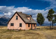 Camera mormonica nel parco nazionale di Teton fotografia stock libera da diritti