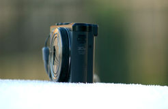 Camera on morning frost Royalty Free Stock Photography
