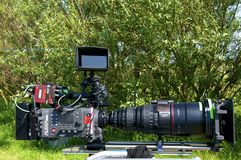 Camera for Motion Picture Royalty Free Stock Images