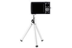 Camera mounted on tripod Stock Image