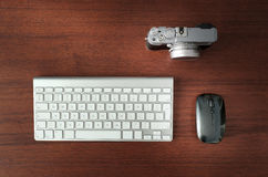 Camera, mouse and keyboard Stock Image