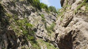 Camera movement between rocks. stock video footage