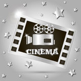 Camera movie film. Star poster vector illustration Stock Photography