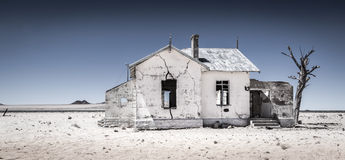 Camera namibiana abbandonata della ferrovia Fotografie Stock Libere da Diritti