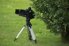 Camera at nature landscape Stock Images