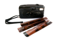 Camera and negatives Stock Photo
